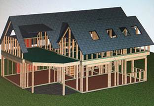 Timber frame buildings. A market for ActiveWall