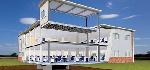 Steel frame office buildings. A market for ActiveWall