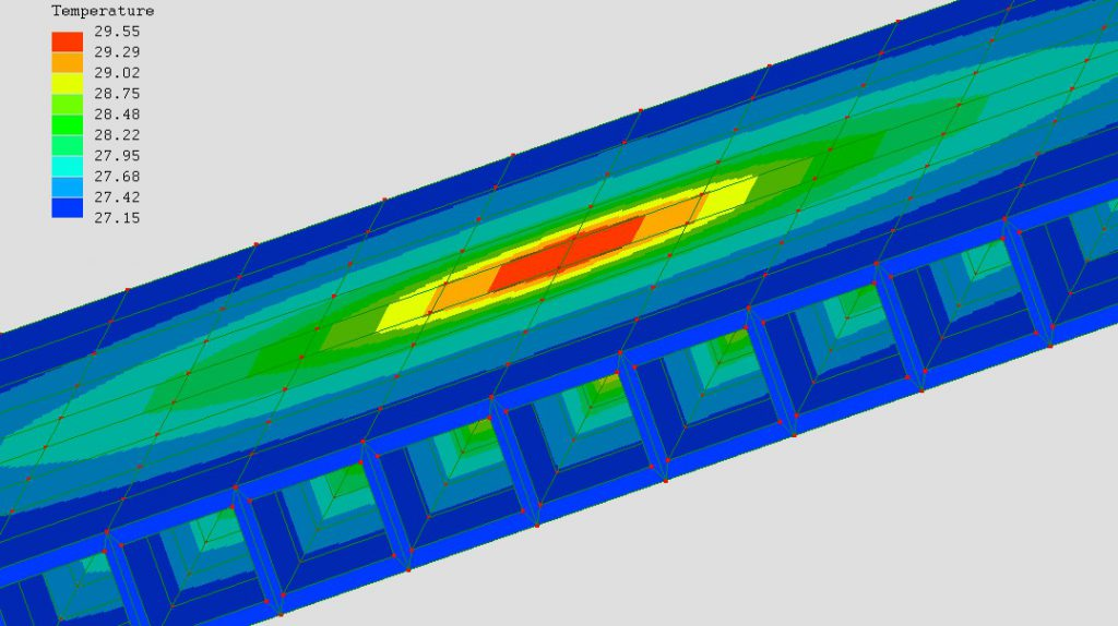 3D Thermal model of ActiveWall heat exchanger